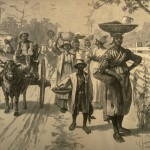 """Going to Market near Savannah, Georgia, 1875,"" Harper's Weekly (May 29, 1875), vol. 19, p. 436. (Library of Congress, Prints and Photographs Division, LC-USZ62-43321), Image Reference NW0131 as shown on www.slaveryimages.org, compiled by Jerome Handler and Michael Tuite, and sponsored by the Virginia Foundation for the Humanities and the University of Virginia Library."